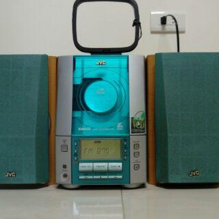 日本 JVC UX V50V 床頭音響 可當主機 外接 電視 電腦 可接MIC 馬來西亞製造 有代用遙控器