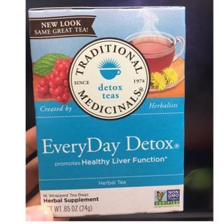 全新 美國 草本排毒茶 traditional medicinals everyday detox