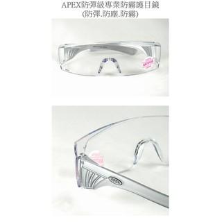 APEX防彈級專業防霧護目鏡(防彈.防塵.防霧)