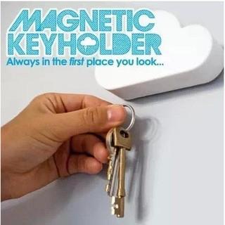 創意可愛雲朵超強磁鐵 鑰匙吸收納器 白雲 鑰匙掛 強力磁鐵收納 居家擺飾zakka房間裝飾