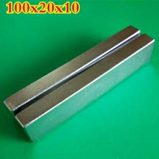 %23釹鐵硼強力磁鐵  長方型100*20*10MM 強力磁鐵 超強力磁鐵 磁力棒 打撈