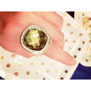 黃寶石鑽戒指