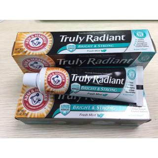 現貨 Truly Radiant亮白牙膏大包裝 最新版 Arm & Hammer鐵鎚牌| 敗家旅人