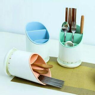 瀝水筷子架勺子置物架筷籠筷子勺子收纳筒厨房塑料餐具收纳架