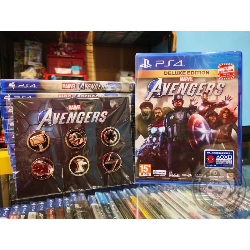 現貨 全新 PS4 原版遊戲片, 漫威復仇者聯盟 中文豪華版, 內附特典DLC