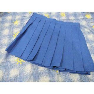 [二手/現貨] 藍色制服裙 百褶裙 短裙 制服 JK 萬用 龍與虎 二手 COS