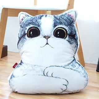 卡通肥貓靠枕床頭靠墊背萌貓抱枕 沙發辦公室腰枕腰靠護腰枕頭