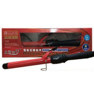 你型我行 JF-2727A 氣電石捲髮夾 32mm 4段溫控調校 快速回復熱板溫度快速加熱至220度 110V/220V