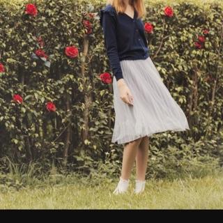 Pazzo愛麗絲夢幻刺繡百褶紗裙