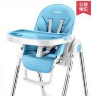 索菲藍 不鏽鋼兒童餐椅 寶寶餐椅 多功能 可折疊 可躺睡 便攜式 高度可調節 吃飯餐桌椅