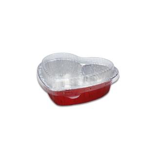 10入 含蓋.愛心鋁箔.錫箔烤模.焗烤盒.愛心收納盒
