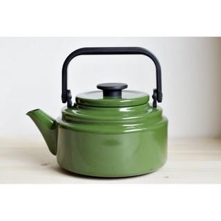 [偶拾小巷] 日本製 野田琺瑯 開水壺 2.0L 綠色
