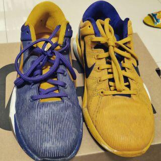 Kobe7黃紫陰陽籃球鞋 Reebok 走路塑身提臀鞋  jordan 六代籃球鞋 現貨 正品 23.5cm