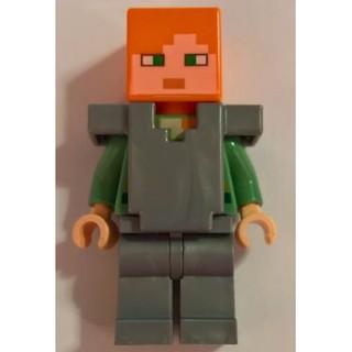 高雄好時光 Lego 樂高 Minecraft 創世神 麥塊 人偶 Alex  Flat Silver 21139