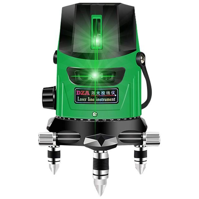 DZA德規220倍綠光5線6點雷射水平儀【戶外超強型/自動復位/雙鋰電+專用快充】4垂直1水平線帶點/自動墨線儀