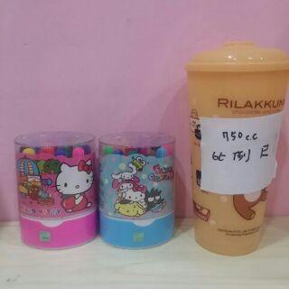 正版三麗鷗 Hello Kitty 12色 桶裝彩色筆 畫筆 凱蒂貓彩色筆 桶裝 不佔空間 兒童文具用品 色筆
