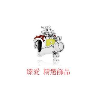 【 臻愛 】迪士尼 愛麗絲夢遊仙境白兔串珠/925純銀/charms/串珠手鍊/可串潘朵拉/PANDORA同款