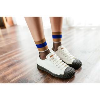 新品促銷~只要45元運動風黑絲玻璃襪中筒襪 短襪 玻璃襪 透膚 水晶襪  女襪 現貨