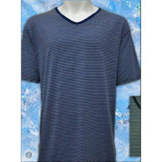 AB紗條紋V領涼感衣~男女都適合,售價僅100!