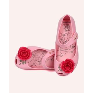 巴西 大 US11 US12  正品MINI MELISSA 香香鞋美女與野獸粉紅色玫瑰款