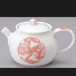 代購  YA016 茶壺 日本茶壺 白瓷圓兔紋茶壺 日本製 日本空運來台 260cc