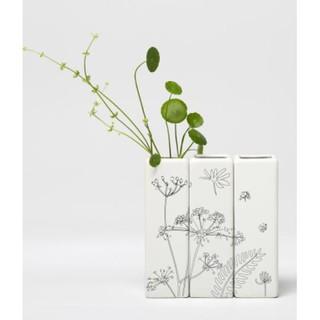 白色陶瓷小花瓶種浮萍植物花器家居小擺件三件售 2407b