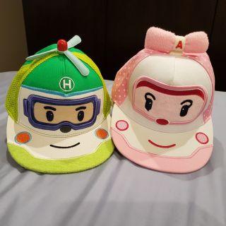 (八成新) 救援小英雄 波力POLI 棒球帽/鴨舌帽/遮陽帽/兒童帽