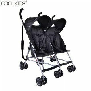 現貨 日本 COOL KIDS 雙人雙胞胎 嬰兒推車 輕便傘車/雨罩