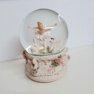 JARLL水晶球旋轉音樂盒 芭蕾舞