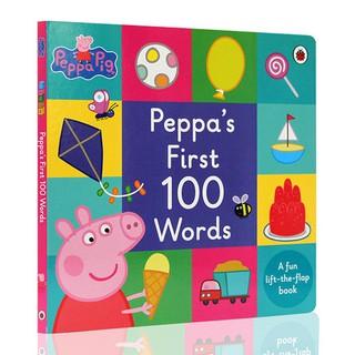 現貨-英文Peppa Pig:Peppa's First 100 Words粉紅豬小妹單字學習書 翻翻書