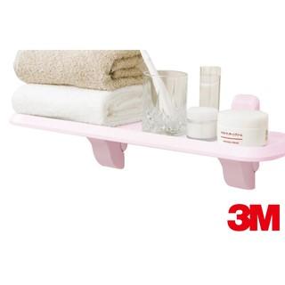 │PM好時光│3M 浴室置物板/層板架(水蜜桃粉)