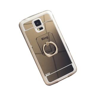 GY 三星S5手機殼 i9600手機套G9006保護套鏡面指環支架防摔G9008