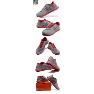 NIKE FREE 4.0 V2 慢跑鞋 灰紅男鞋