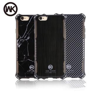 WK手機殼 iphone手機殼 四角防摔殼 睿量 伯爵Iphone7軍事級 I7I6s I6 碳纖維 大理石 金屬拉絲