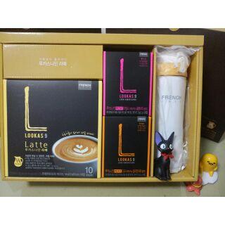 韓國FRENCH CAFE LOOKAS9 拿鐵美式咖啡禮盒