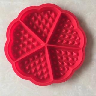 全新 五塊鬆餅waffle比利時愛心鬆餅格子餅蛋糕烘焙耐熱模具