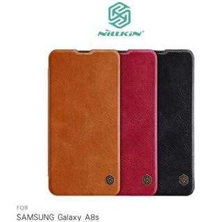 NILLKIN SAMSUNG Galaxy A8s 秦系列皮套 掀蓋 可插卡 高出鏡頭設計