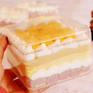高透餅乾盒 透明蛋糕盒 ps塑膠盒 方形餅乾盒 方形塑膠盒 挖蛋糕 慕斯 珠寶盒 硬質塑膠盒