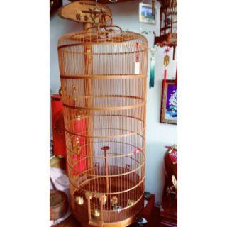 絕無僅有!拍賣唯一 特製鳥籠 竹製長型 小雲雀 文公尺吋 伸縮鳥籠 觀實 擺設佈置 風水