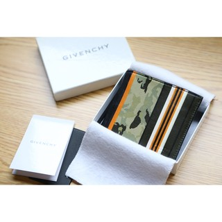 Givenchy Leather Camo Stripes Coin Wallet 紀梵希 迷彩條紋拼接 短夾 小羊皮