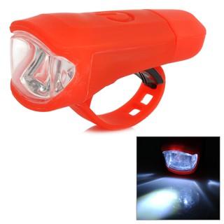 防水腳踏車USB充電車前燈-紅