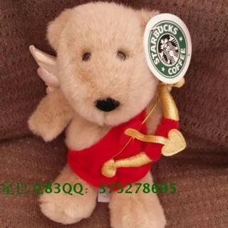 星巴克美國 2001年情人節愛神丘比特創意風格禮物限量熊