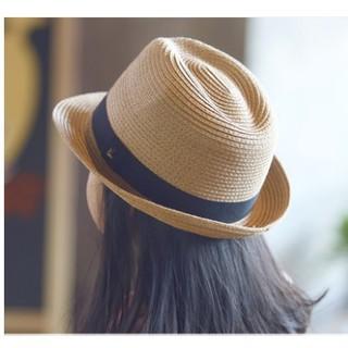 時尚叮噹城兒童草帽夏男童沙灘帽親子帽英倫親子男女兒童出遊爵士帽禮帽涼帽