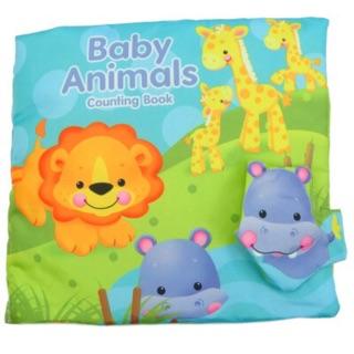 熱帶雨林動物多 布書baby animals 寶寶嬰兒布書響紙布書觸摸書數字認知動物英