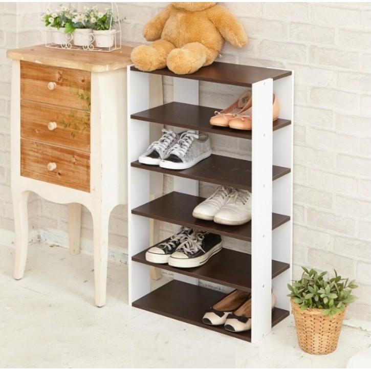 L[tidy house]【免運費】日系優雅五層木質鞋櫃◆2色可選/鞋架/五層鞋架/木質鞋架