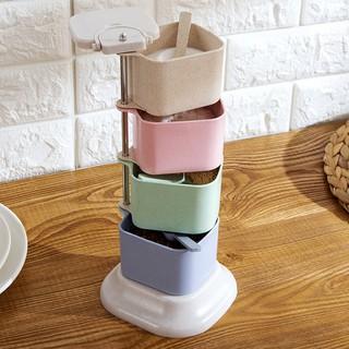 調味罐立式旋轉調料盒廚房調味盒調料罐套裝調味料佐料盒