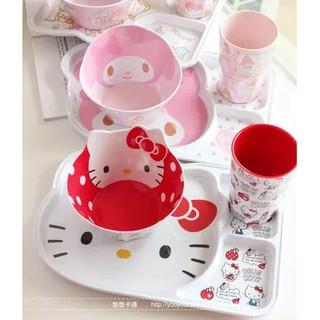 超可愛Hello Kitty 美樂蒂 造型餐碗 水杯 密胺飯碗 兒童湯碗  加厚沙拉碗 點心碗 水果盤 卡通碗 雙子星