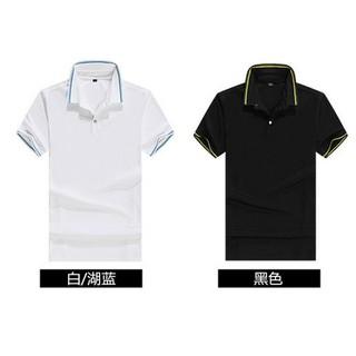 C4 男士金線翻領商務POLO男生短袖大碼衣著高爾夫球衣素面polo衫