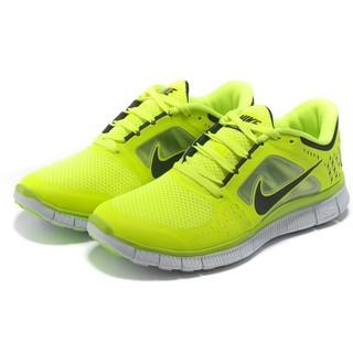 NIKE赤足5.0輕量慢跑鞋螢光黃36-44男女款