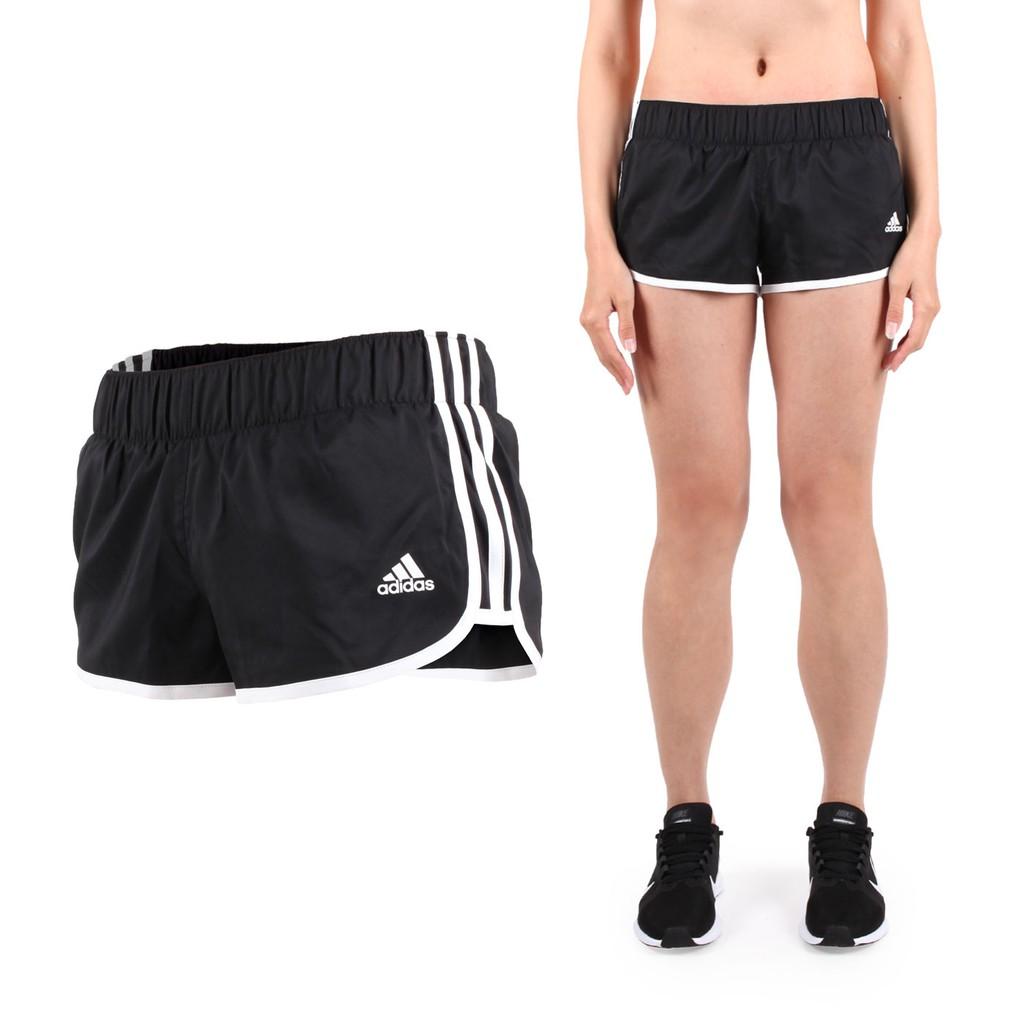 ADIDAS 女運動短褲 (慢跑 路跑 訓練 三分褲 愛迪達 黑白 CE2014